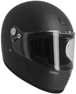 Casque int/égral Vintage GT R/étro Casque vintage homologu/é en fibre de verre et alcantara Astone Helmets Matt grey//Black stripes M Casque ultra-l/éger au look r/étro