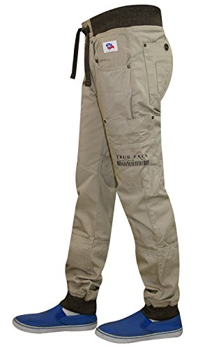New Men True Face Designer Cargo Combat Bermuda Trouser Casual Summer Chino Jean Stone