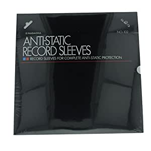 Nagaoka No. 102 Anti-Static Record Sleeves: Pack of 50 by Nagaoka
