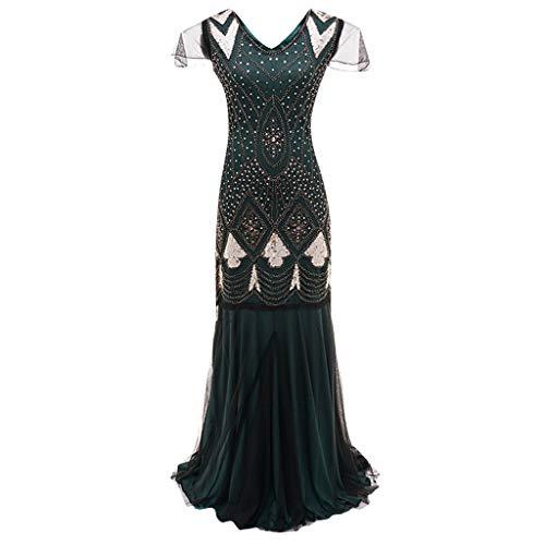 Zeit Flapper Kostüm - Allegorly 1920s Charleston Kleid Damen Knielang
