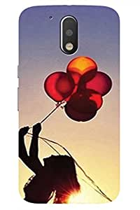 AMAN Balloon 3D Back Cover for Moto G4