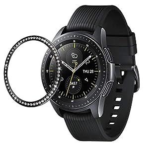 2019 Lünette Ring Bezel Klebstoff für Samsung Galaxy Watch 42MM, Nourich Abdeckung Adhesive Cover Anti Scratch Edelstahl Hülle Schutz Schutzfolie Shell Zubehör Schutz Schutzrahmen
