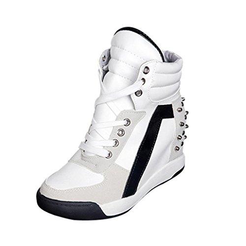 Zapatos de Mujer Sneakers de Mujer Zapatos Individuales Botines Moda Porciones Plataforma Ponerse Deportes...