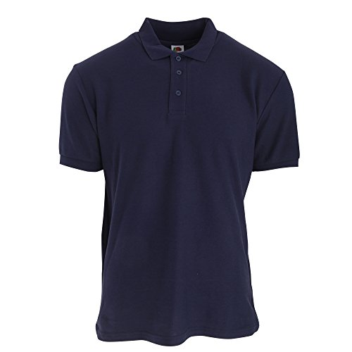 Fruit Of The Loom - Polo Manica Corta - Uomo Blu navy