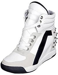 Zapatos de mujer Sneakers de mujer Zapatos individuales Botines Moda Porciones Plataforma Ponerse Deportes Corriendo Con cordones Remache Tacón oculto Casual Viajar Zapatos LMMVP