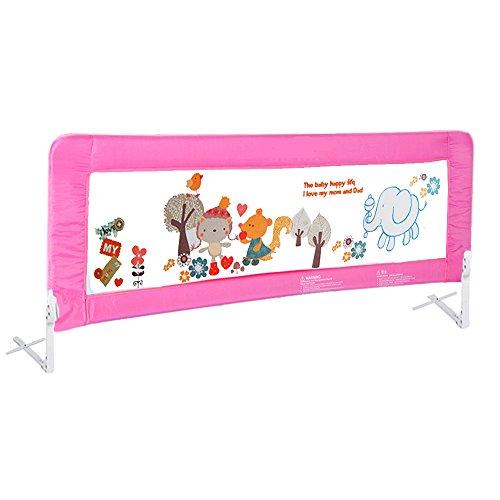 150cm-180cm-kinderbettgitter-bettschutzgitter-faltbar-matratze-gitterbett-pink-dhl-180cm
