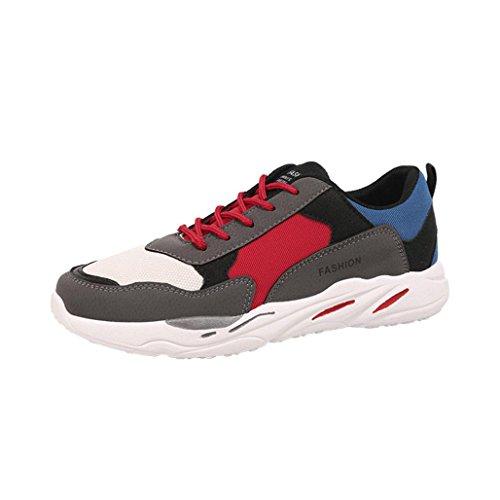Wawer Herren Sportschuhe Sneakers Runners Freizeitschuhe Plateau Schuhe (39-44) (42, Grau)