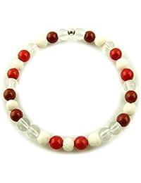 Edelstein Sternzeichen Armband - Waage - mit 925er Silber Perle, Heilsteinarmband, Stretcharmband