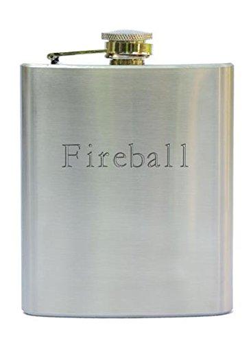 Rostfreistahle Flasche mit gravierten Namen: Fireball (Vorname/Zuname/Spitzname)