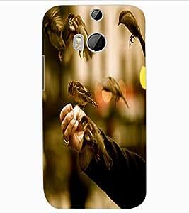 ColourCraft Sparrow Birds Design Back Case Cover for HTC ONE M8