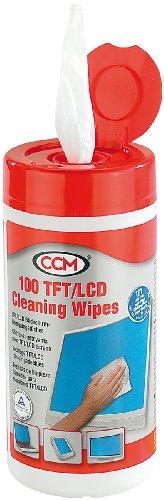 CCM TFT/LCD/Plasma Bildschirm-Reinigungstücher (100 Stück)