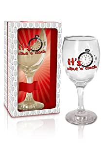 Birthday gift wine glasses for wine lovers in gift box funny hen party men and women - Funny wine glasses uk ...