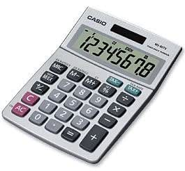 CASIO Calculatrice de bureau MS-80 TV, solaire/piles