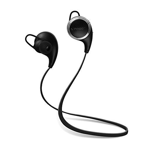 Auricolari Bluetooth Wireless Cuffie Bluetooth 4,1 QY10 CVC6.0 Innoo Tech Auricolari Sportivi Stereo Cancellazione Rumore Anti-Sudore con Microfono APT-X per iPhone 7, 6s plus/6s, iPhone 6/6 Plus, iPhone 5s/5c/5/4s, iPad, LG G2, Samsung Galaxy S6 Edge+/S6 Edge/S6/ S5/S4/S3, Note 4/Note 3/Note 2, Sony, Huawei ed altri Smartphone Garanzia a Vita