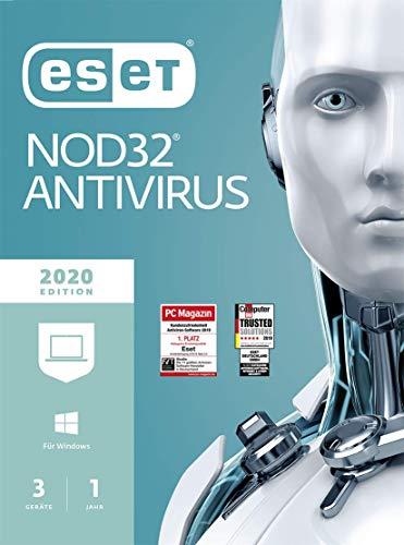 ESET NOD32 Anivirus 2020 | 3 Geräte | 1 Jahr Virenschutz | Windows (10, 8, 7 und Vista)| Download