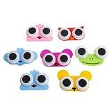 NKYSM Kontaktlinsen Aufbewahrungsbox 1 Stück Süße Cartoon 3D Große Augen Eule Frosch Tierform Kontaktlinsenbehälter
