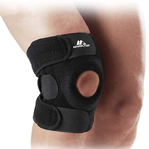 HBRT Professionelle Sportknieschützer, Meniskusverletzung, verstellbare Schutzausrüstung Knieschutz für Basketball im Freien (einzeln) - Kunst Snowboard