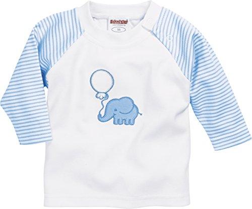 Schnizler Langarmshirt Elefant Sudadera, Azul (Bleu 17), 74 para Bebés