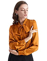 445503dc408996 LILYSILK Ladies Bow-tie Neck Silk Blouse 100 Silk Blouse Ladies Top Shirt  22 Momme