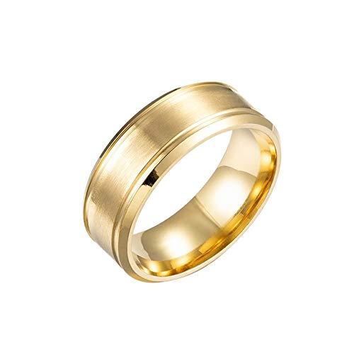 GMZWW Marke 8mm Einfache Ring Mode Gold Ring Männer Frauen Exklusive Paar Ehering Frauen Schmuck Geschenk 13 Gold