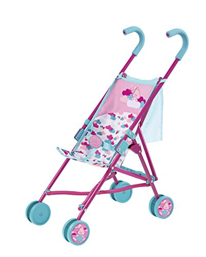 Zapf Creation 824160 - BABY born Stroller mit Bag, petrol/rosa