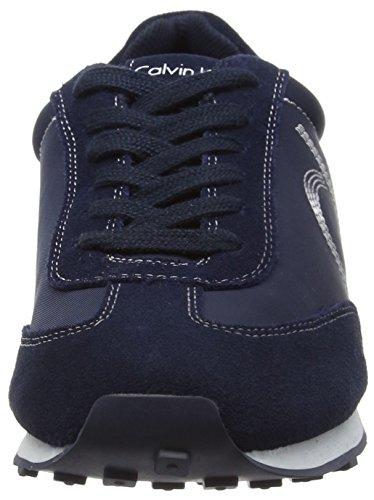 Calvin Klein Yul Nylon/Suede, Baskets Basses homme Bleu - Bleu (Bleu marine)