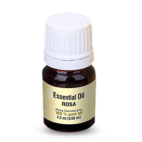 Rosenöl 2,5ml - Rosa Damascena Bulgarisch - 100% Ätherisches Rose Öl - Besten für Beauty - Wellness - Schönheit - Aromatherapie - Duftlampen - Raumduft - Aphrodisiakum - Rosen Öl