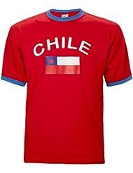 BRUBAKER Herren oder Damen Chile Fan T-Shirt Rot Gr. S - XXXL