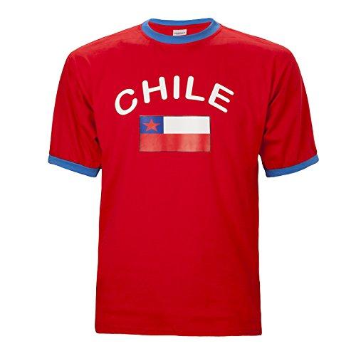 Brubaker Herren oder Damen Chile Fan T-Shirt Rot Gr. L
