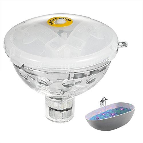 LEDGLE Buntes Badewannelicht, LED Poolspielzeug, Whirlpoollicht, 5 Blitzmodi, IP68 Wasserdicht, Batteriebetrieben