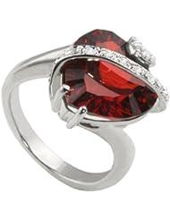 Goldmaid - Fa R2606S - Bague Femme - Coeur - Argent 925/1000 6 gr - Oxyde de Zirconium Rouge