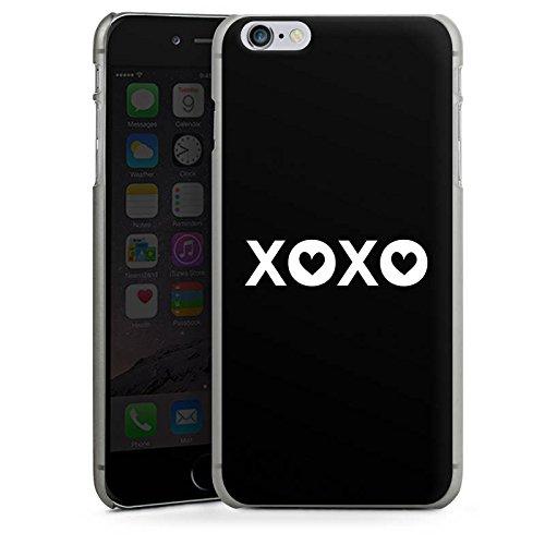 Apple iPhone X Silikon Hülle Case Schutzhülle xoxo Kuss Liebe Hard Case anthrazit-klar