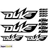 SUPERSTICKI 690 Duke Aufkleber A1 Sponsorset 4666 ca. 30x20cm Aufkleber Bike Auto Racing Tuning aus Hochleistungsfolie Aufkleber Autoaufkleber Tuningaufkleber Hochleistungsfolie für al