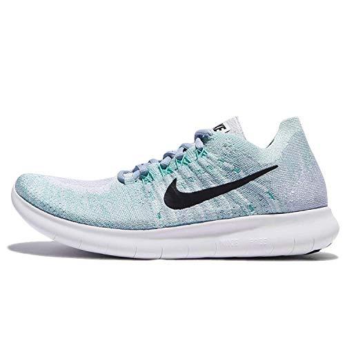 Nike Damen Free RN Flyknit 2017 Laufschuhe, blau/schwarz, 42 EU