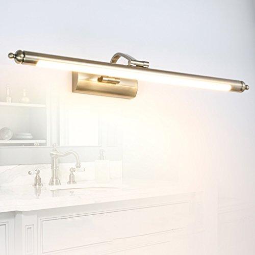 LED Spiegel Frontleuchte, Wasserdichtes Badezimmer Objektiv Scheinwerfer Antik Messing (Farbe :...