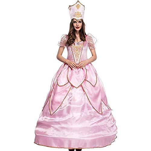 Kostüm Königin Fee - ASDF Halloween Kostüm Erwachsene rosa Blume Fee Elf Kostüm Fee Königin COS Kleidung mit Rock