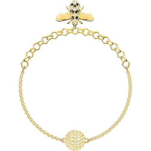 Imagen de swarovski remix strand bee  pulsera de acero inoxidable para mujer, l 17 cm , dorado