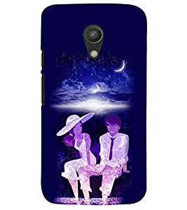 PRINTSWAG MOON LIGHT COUPLE Designer Back Cover Case for MOTOROLA MOTO G2
