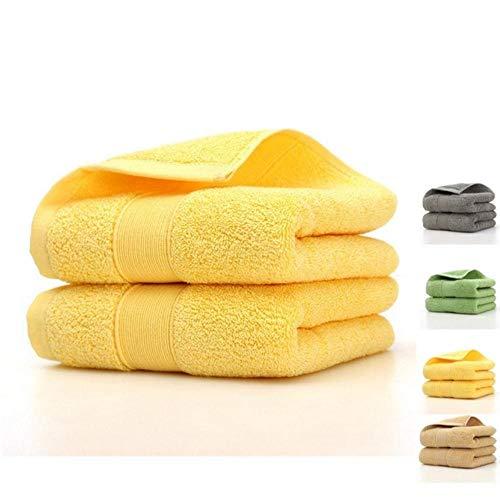 HUILIN 100% ägyptische Baumwolle 3-teiliges Hoteltuch-Set, 1 Badetuch und 2 Handtücher, 990 g/m², 3-teilig, 3-teilig - Monogrammiert Handtuch-set