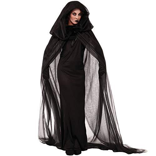 ZGCP Halloween Kostüm Hexenkostüm Vampir Braut Schwarze Witwe Uniform Schwarz - Eine Schwarze Witwe Kostüm