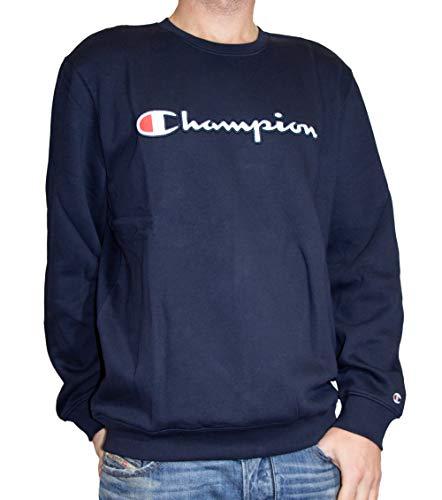Champion Herren Crewneck 212067 Sweatshirt, Blau (NNY Bleu Bs501), X-Large Big Logo Crewneck Sweatshirt