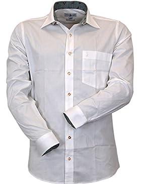 Almsach Trachtenhemd Slim Fit mit Kontrasten Domenic