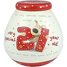 Pot Of Dreams Boofle 21st Birthday Money Box/ Pot - 50034