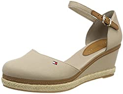 Tommy Hilfiger Women's Iconic Elba Basic Closed Toe Espadrilles, Beige (Cobblestone 068), 5 Uk