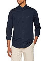 Idea Regalo - Tommy Hilfiger Core Stretch Slim Poplin Shirt Camicia Sportiva, Blu (Sky Captain 403), X-Large Uomo