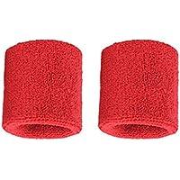 Lovelysunshiny 1 par de brazaletes de algodón Puro para Hombres, Mujeres, muñequeras, muñequeras para Tenis Deportivo