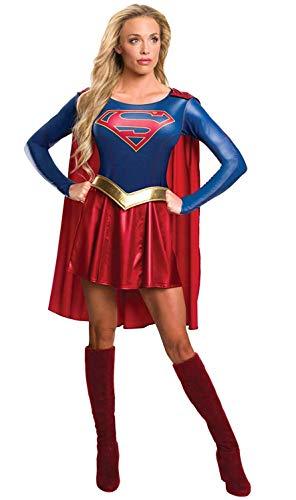 Rubie's offizielles Supergirl-Kostüm für Damen (TV-Serie), Erwachsenen-Kostüm, Größe - Dusche Kostüm