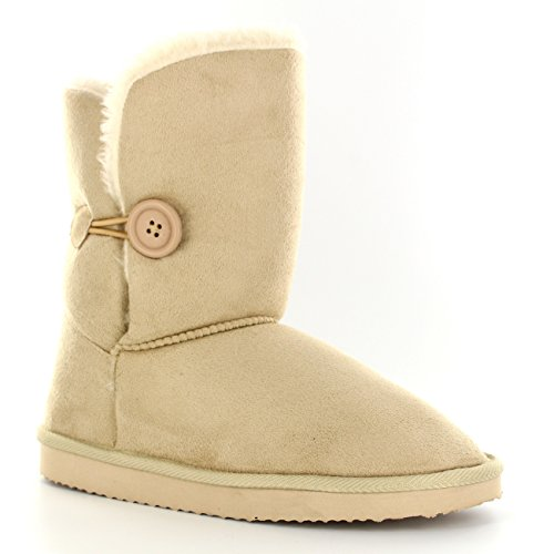 damen-schuhe-single-knopf-fell-schnee-regen-stiefel-winter-fur-boots-beige-41-aea0183