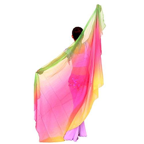 Brightup Schal Gesichtsschal Tanz Bauch Hüfte Schal Sequins (Ägyptischer Bauch Tanz Kostüm)
