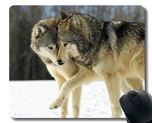 31f7484ea3fca Yanteng Gaming Mouse Pad Custom, depredador de Vida Silvestre, Animal de  Invierno, Lobo, Oficina en casa, Accesorios de computadora, Alfombrillas